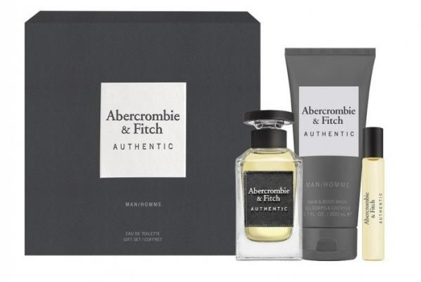 Abercrombie & Fitch Authentic  EdT 100ml + Sprchovací gel 200ml + 15ml EdT (M)