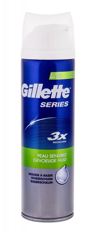 Gillette Sensitive Series (M)  250ml, Pena na holenie