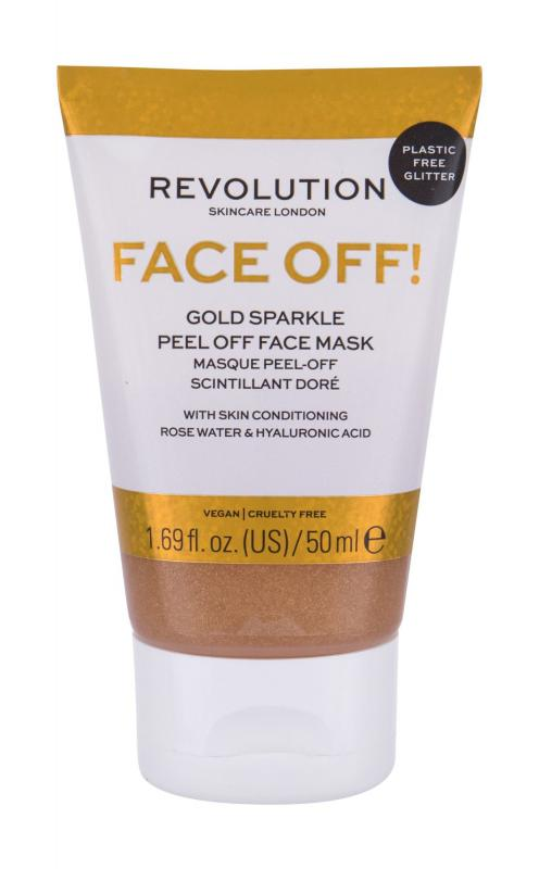 Revolution Skincare Gold Sparkle Face Off! (W)  50ml, Pleťová maska