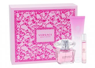 Versace Bright Crystal EdT 90ml + 150ml Telové mlieko + EdT 10ml
