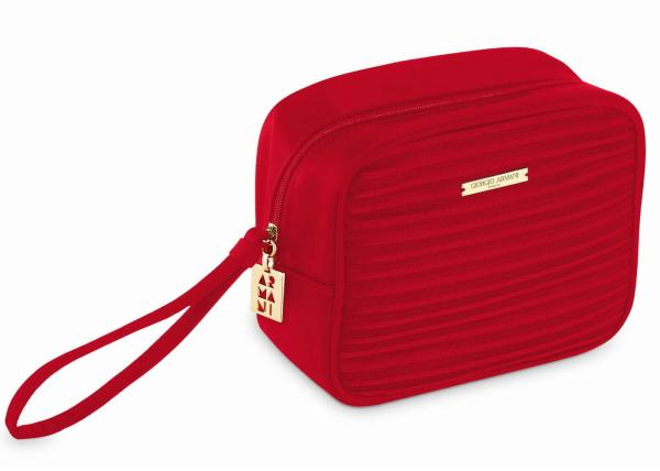 Giorgio Armani Make Up Bag Lux Red - kozmetická taška