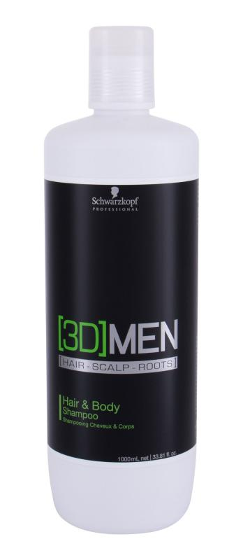 Schwarzkopf Professi Hair & Body 3DMEN (M)  1000ml, Šampón