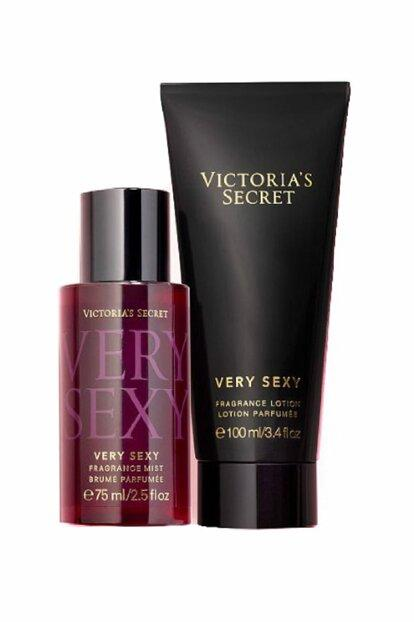 Victoria´s Secret Very Sexy 75ml + 100ml, Telový sprej, sada (W)