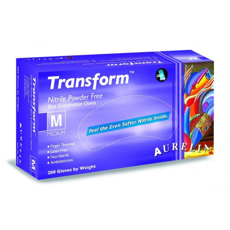 Aurelia Transform Blue Purple PF Nitrile Gloves, Jednorázové Nitrilové rukavice 200ks