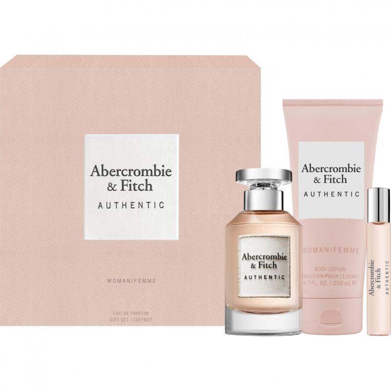 Abercrombie & Fitch Authentic  EdP 100ml + Telové mlieko 200ml + EdP 15ml (W)
